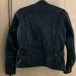 the Triple Connection Jackets & Coats - Triumph Black Leather Motorcycle Jacket